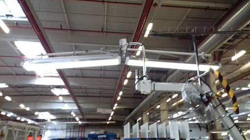 Luminaire adapté contrôle qualité