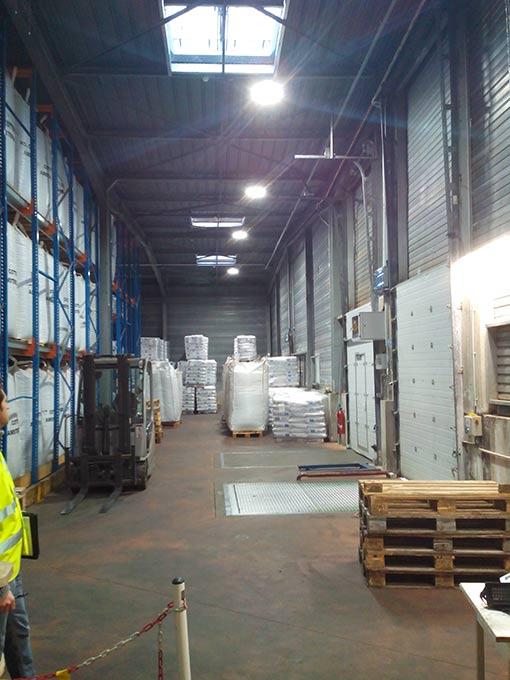 Eclairage entrepôt et logistique
